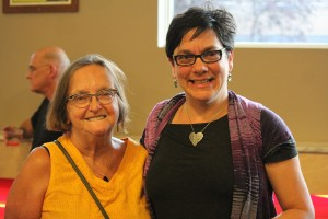 Shirley Lord (right) with Winnipeg City Councelor Jenny Gerbasi at the 2014 Joseph Zuken Citizen Activist Award ceremony
